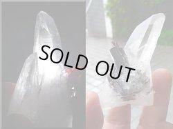 画像1: 【クリアランス価格30%OFF 18,000円→12,600円】ヒュブネライト(マンガン重石)&水晶ポイント73.6g