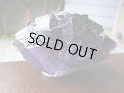 画像1: 【クリアランス価格30%OFF 18,000円→12,600円】イリノイ州産ブラックパープルフローライト原石156.8g