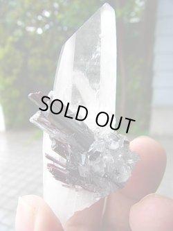 画像2: 【クリアランス価格30%OFF 18,000円→12,600円】ヒュブネライト(マンガン重石)&水晶ポイント73.6g