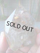 ブラジル産シデライト入りガーデン水晶原石207.4g