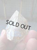 ニューヨーク・ハーキマー鉱山産レインボー・エレスチャル水晶原石92.1g