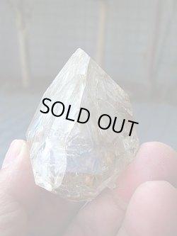 画像1: ニューヨーク・ハーキマー鉱山産レインボー・エレスチャル水晶原石92.1g