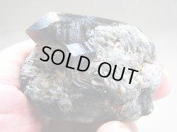画像1: フィンランド・リプシニエミ産バライト付きモリオン(黒水晶)163.5g