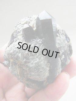 画像2: フィンランド・リプシニエミ産バライト付きモリオン(黒水晶)163.5g