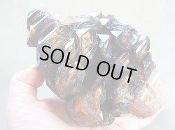 画像1: キャビネットサイズ:ブラジル産ダークスモーキー・ウインドウ&ジャカレー水晶原石733g