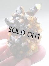 【クリアランス価格30%OFF 2,500円→1,750円】オレンジリバー産リモナイト水晶クラスター79.5g