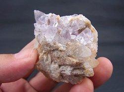 画像1: スペイン・アストゥリアス産水晶&カラーレスフローライト原石106.0g